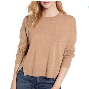 Alex Mill Crop Merino Wool Cotton Sweater